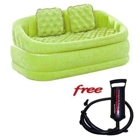 intex sofa india buy intex 2 seater green air sofa with free