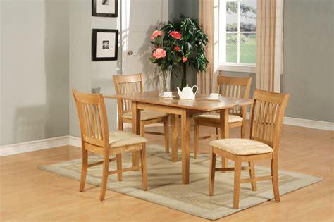 pc rectangular kitchen dinette table set  chairs oak ebay