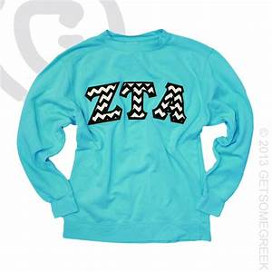 pin by taylor brassfield on zeta tau alpha pinterest With sewn on letters sweatshirts