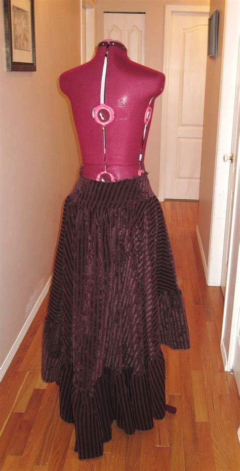 gypsy steam skirt  prairie skirt sewing