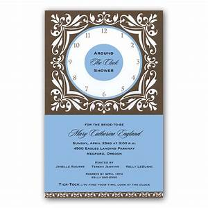 around the clock shower invitations clearance paperstyle With around the clock wedding shower invitations