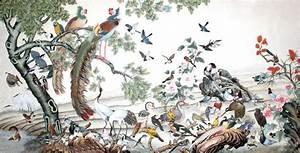 Chinese Phoenix Painting phoenix 2735007, 92cm x 174cm(36 ...
