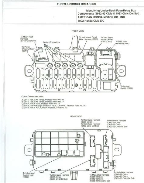 1993 accord ex 4dr dash fuse diagram honda tech