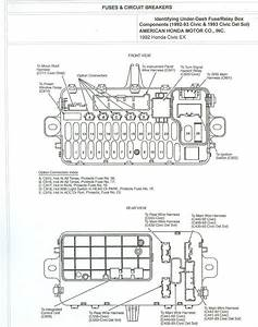 Under Dash Fuse Diagram For 1996 Honda Civic Ex
