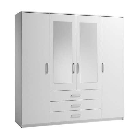 White 4 Door Wardrobe by Vinderup 4 Door Wardrobe White Wardrobes Jysk Canada