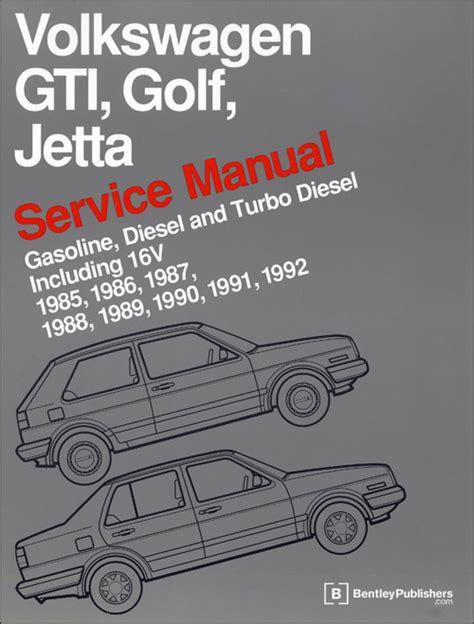 service and repair manuals 1985 volkswagen golf regenerative braking volkswagen gti golf jetta service manual 1985 1992 xxxvg92