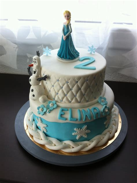 cake design la reine des neiges chut je cuisine