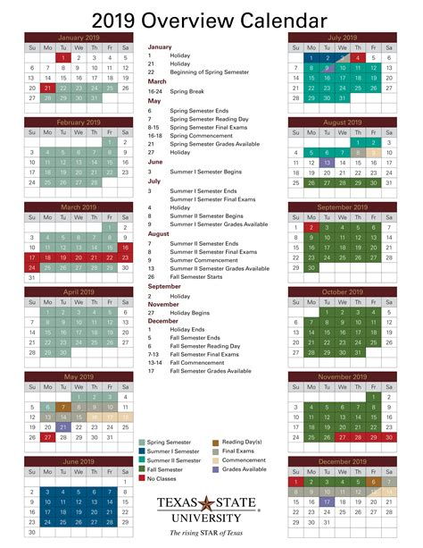 academic calendar office university registrar texas state