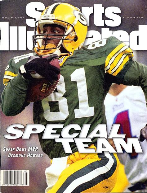 Green Bay Packers Desmond Howard Super Bowl Xxxi Sports
