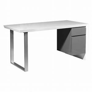 Design Schreibtisch Weiß : neu design schreibtisch hochglanz wei grau b rotisch arbeitstisch b rom bel ebay ~ Heinz-duthel.com Haus und Dekorationen