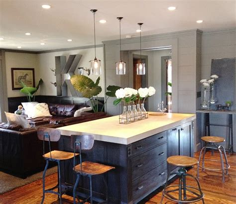houzz kitchen island lighting keegan kitchen family room contemporary kitchen