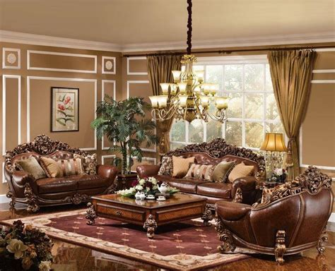 leather living room furniture the royale formal living room collection Formal