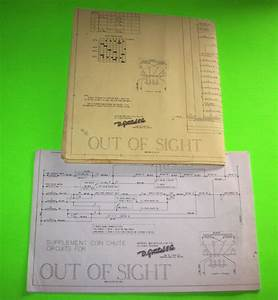 Out Of Sight By Gottlieb 1974 Original Pinball Machine