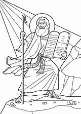 Commandments Ten Coloring Moses Pages Sinai Mount Drawing Bible Printable Template Tablets Crafts Receives Commandment Sheets Activity Colouring Children Lessons sketch template