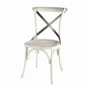 Chaise Rotin Metal : chaise en rotin et m tal blanche tradition maisons du monde ~ Teatrodelosmanantiales.com Idées de Décoration