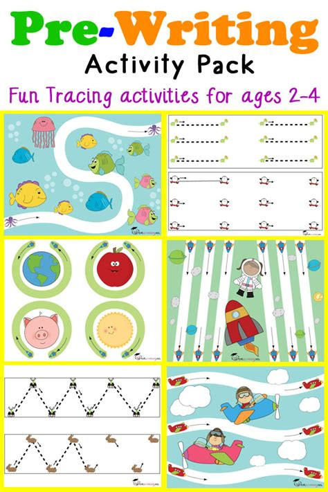 writing activities for preschoolers printable pre writing tracing pack for toddlers 967