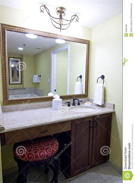 mirror  bathroom vanity stock image image  hotel