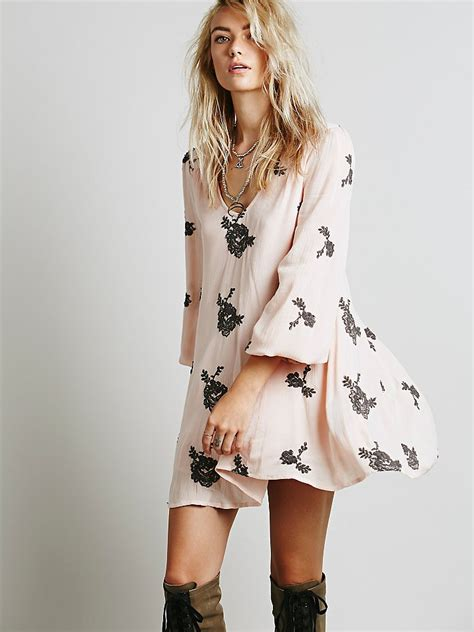 people fp collection womens embroidered austin dress