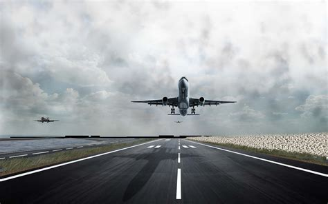Free photo: Airport Runway - Airport, Clouds, Runway ...