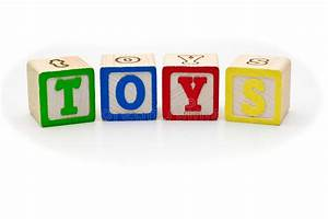 children39s wood blocks spelling the word toys over stock With block letters toys