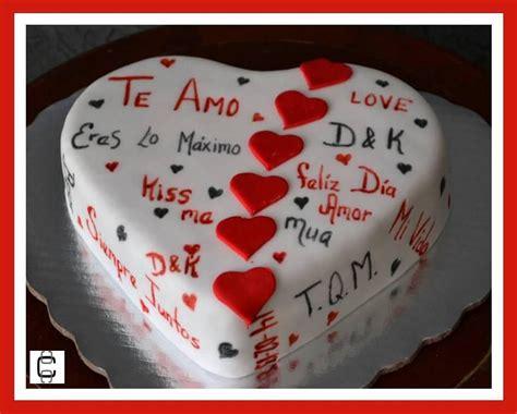 fondant valentines heart cake pastel de corazon