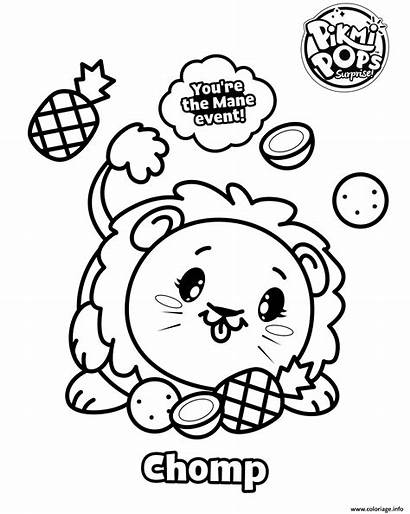 Pikmi Pops Coloring Coloriage Skittle Pop Printable