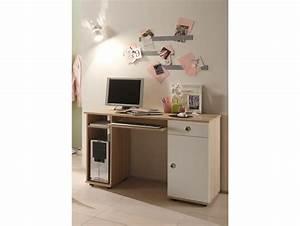 Schreibtisch Mit Druckerfach : tina schreibtisch sonoma eiche wei ~ Michelbontemps.com Haus und Dekorationen