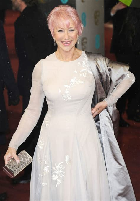 Helen Mirren Debuts Pink Hair At 2013 Baftas The