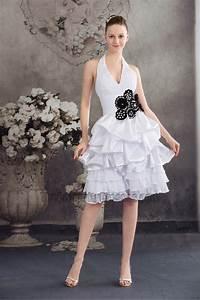 White Halter Knee Length Cocktail Graduation Party Dresses