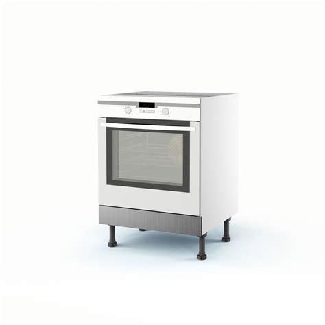 meuble de cuisine bas décor aluminium four stil h 70 x l