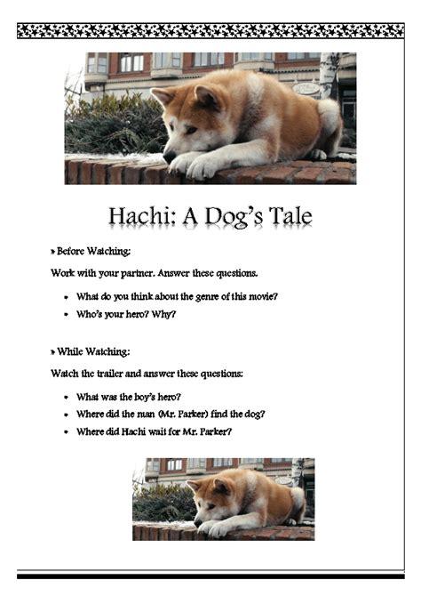 worksheet hachi  dogs tale trailer