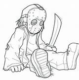 Jason Coloring Voorhees Mask Horror Drawing Colorings Getdrawings Printable Getcolorings Icons Dean sketch template