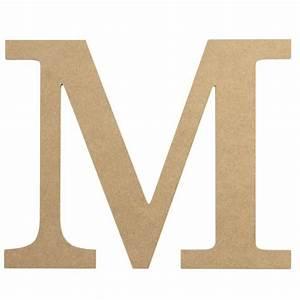10 U0026quot  Decorative Wood Letter  M  Ab2037