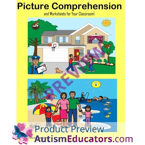 autism picture comprehension  worksheets