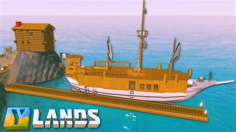 How To Make A Boat Ylands by Ylands Building A Base Dock Ylands Multiplayer