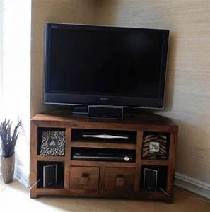Mobile porta tv etnico legno ad angolo outlet mobili etnici for Mobile tv angolo