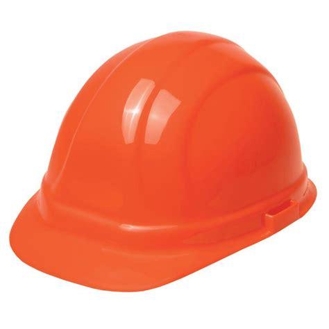 erb omega ii 6 point suspension nylon mega ratchet cap hard hat in hi viz orange 19955 the