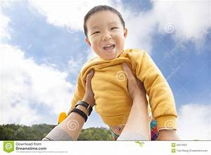 Happy Kid With Cloud Background Stock Image - Image: 29474921