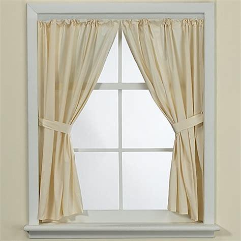bone vinyl bath window curtain panel pair bed bath