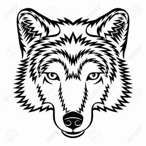 Wolf clipart black and white - Pencil and in color wolf ...