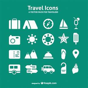 Travel icons set Vector | Free Download
