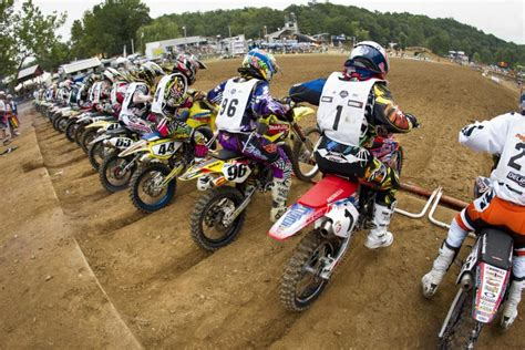 ama national motocross schedule loretta lynn practice and moto order schedule announced