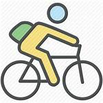 Icon Bicycle Bike Riding Going Student Biker