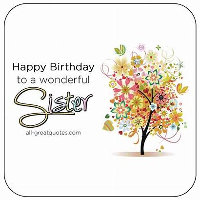 Sister Birthday Happy Wonderful Wishes Poems Cards