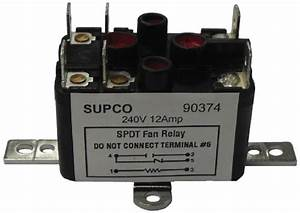 Supco 90380 General Purpose Fan Relay  13 A Load Current