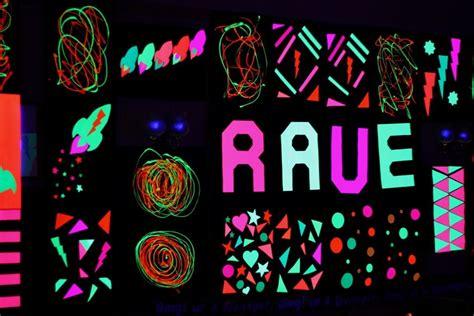 uv blacklight rave decorations made using on