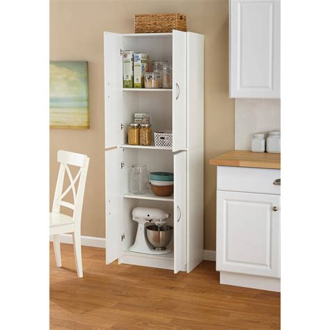 Walmart White Pantry Cabinet by Mylex Single Door Pantry Finishes Walmart