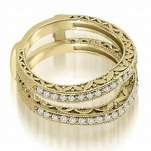 amcor 14k yellow gold 042 cttw antique round cut diamond With wedding ring enhancers yellow gold