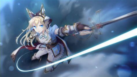 Anime Fighting Wallpaper - wallpaper anime sword ribbon blue