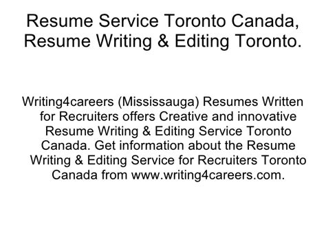 resume writing services ontario canada stonewall services